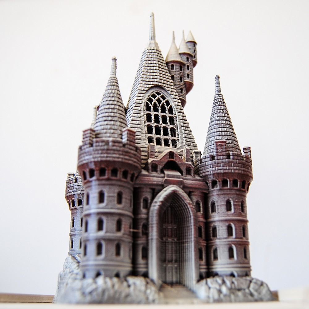 Castle2.jpg Download OBJ file The Five Tower Hall • 3D printable template, tolgaaxu