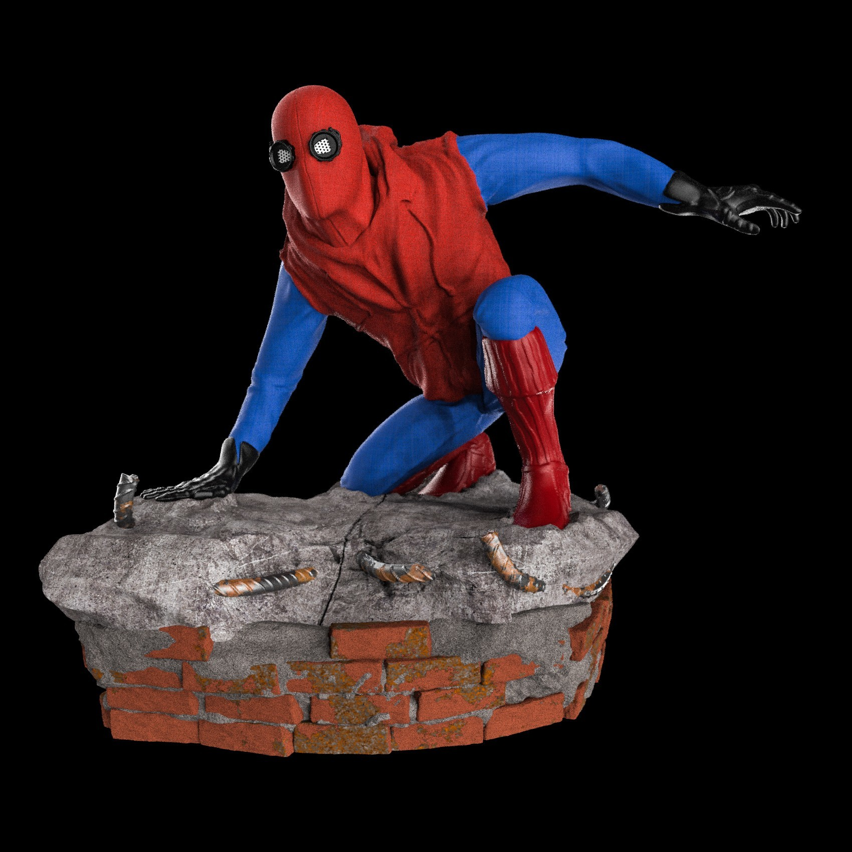 14.jpg Download STL file Spider-Man Homemade Suit • Design to 3D print, tolgaaxu