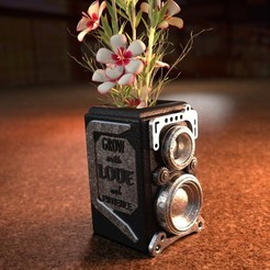 3D printer models RETRO CAMERA FLOWERPOT, tolgaaxu