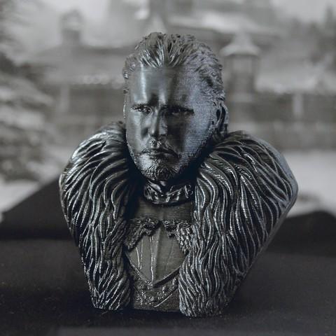 Cover.jpg Download OBJ file Jon Snow - Game of Thrones • 3D printable template, tolgaaxu