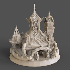 Download 3D printer model SACRED TEMPLE or TREE HOUSE, tolgaaxu