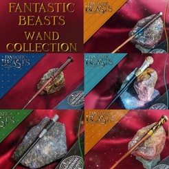 Download 3D printer files FANTASTIC BEASTS WAND COLLECTION 1, tolgaaxu