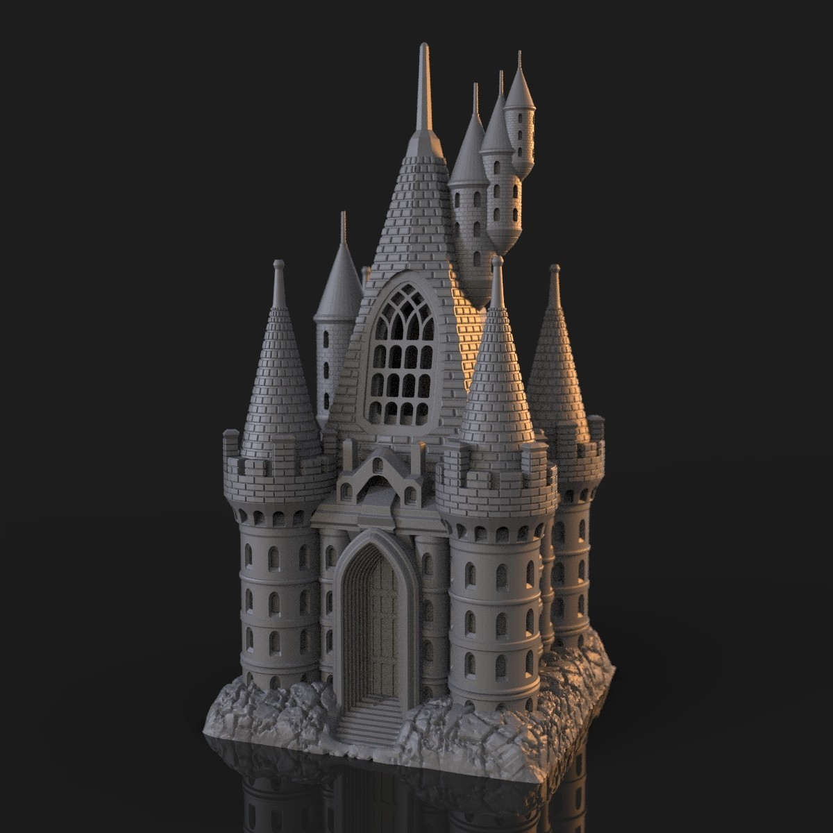 6.jpg Download OBJ file The Five Tower Hall • 3D printable template, tolgaaxu