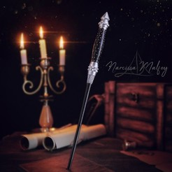 3D printer models NARCISSA MALFOY WAND - HARRY POTTER, tolgaaxu