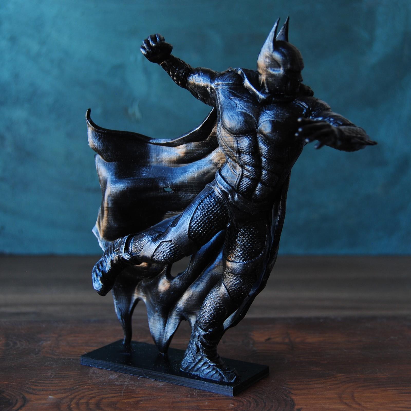 3.jpg Download OBJ file BATMAN Battle Pose • 3D print template, tolgaaxu