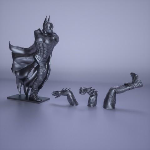 18.jpg Download OBJ file BATMAN Battle Pose • 3D print template, tolgaaxu