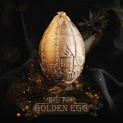 Cover.jpg Download OBJ file Golden Egg - Harry Potter Triwizard Tournament - Dragon Egg • 3D printing object, tolgaaxu