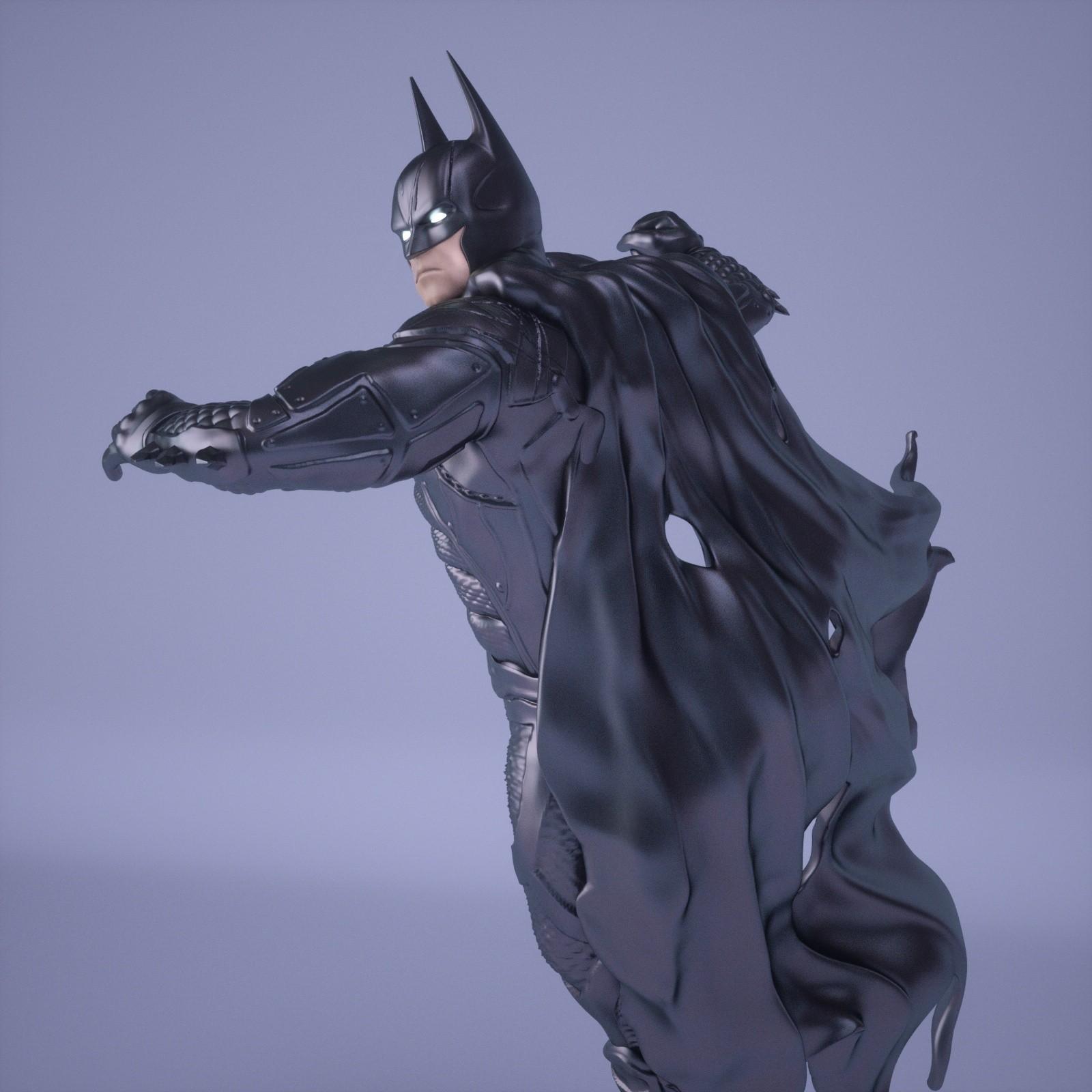 17.jpg Download OBJ file BATMAN Battle Pose • 3D print template, tolgaaxu
