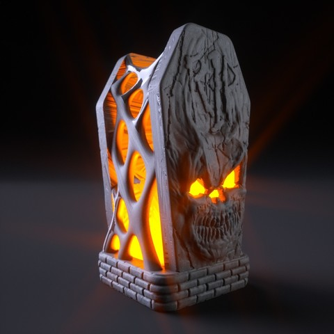 Free STL files Halloween Tomb Lamp, tolgaaxu