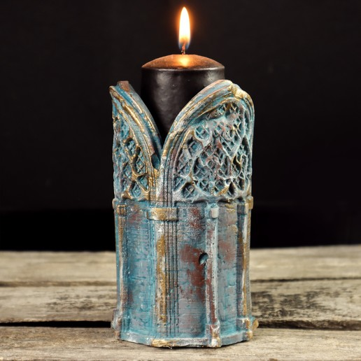3.jpg Download 3DS file Gothic Candle Holder • Object to 3D print, tolgaaxu