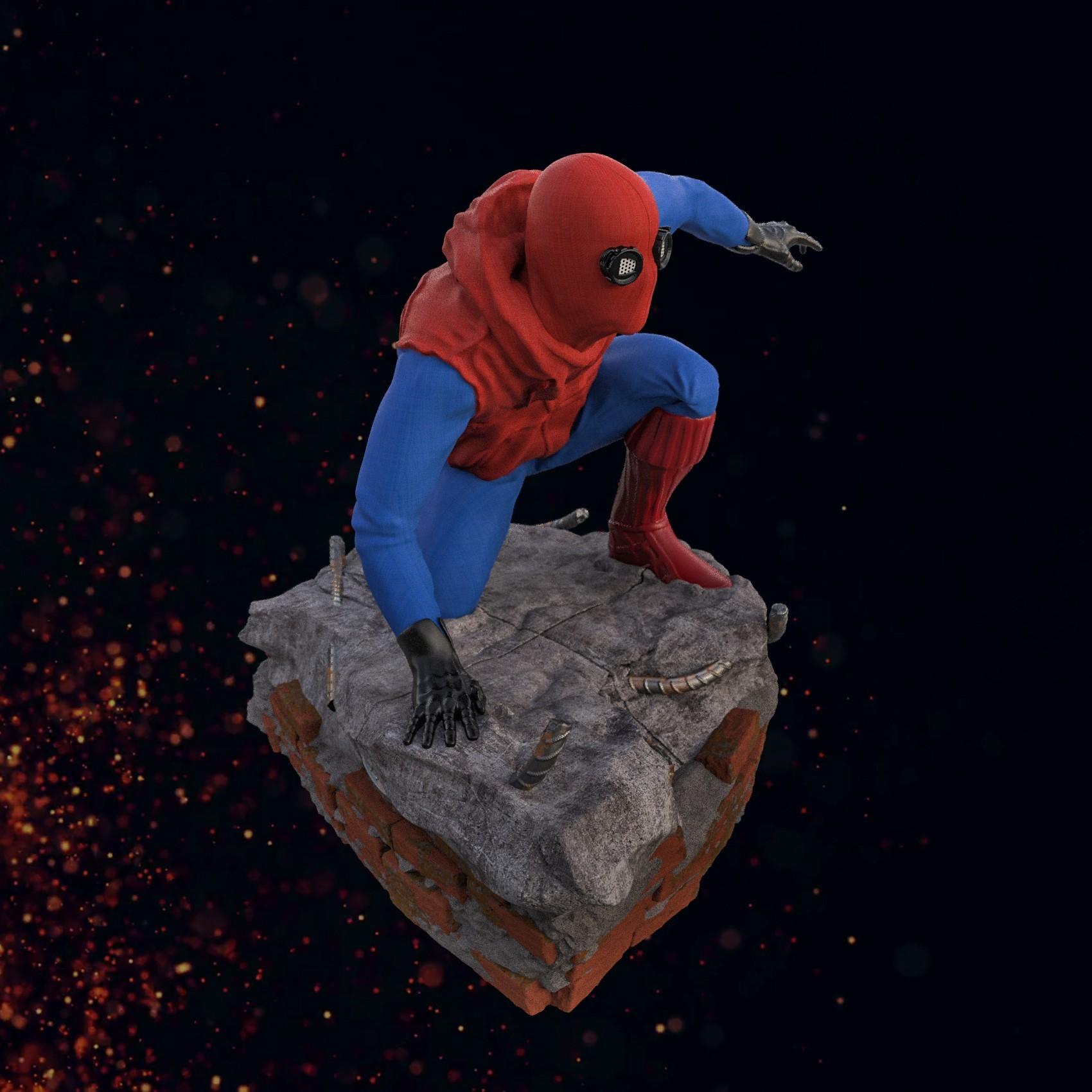 6.jpg Download STL file Spider-Man Homemade Suit • Design to 3D print, tolgaaxu