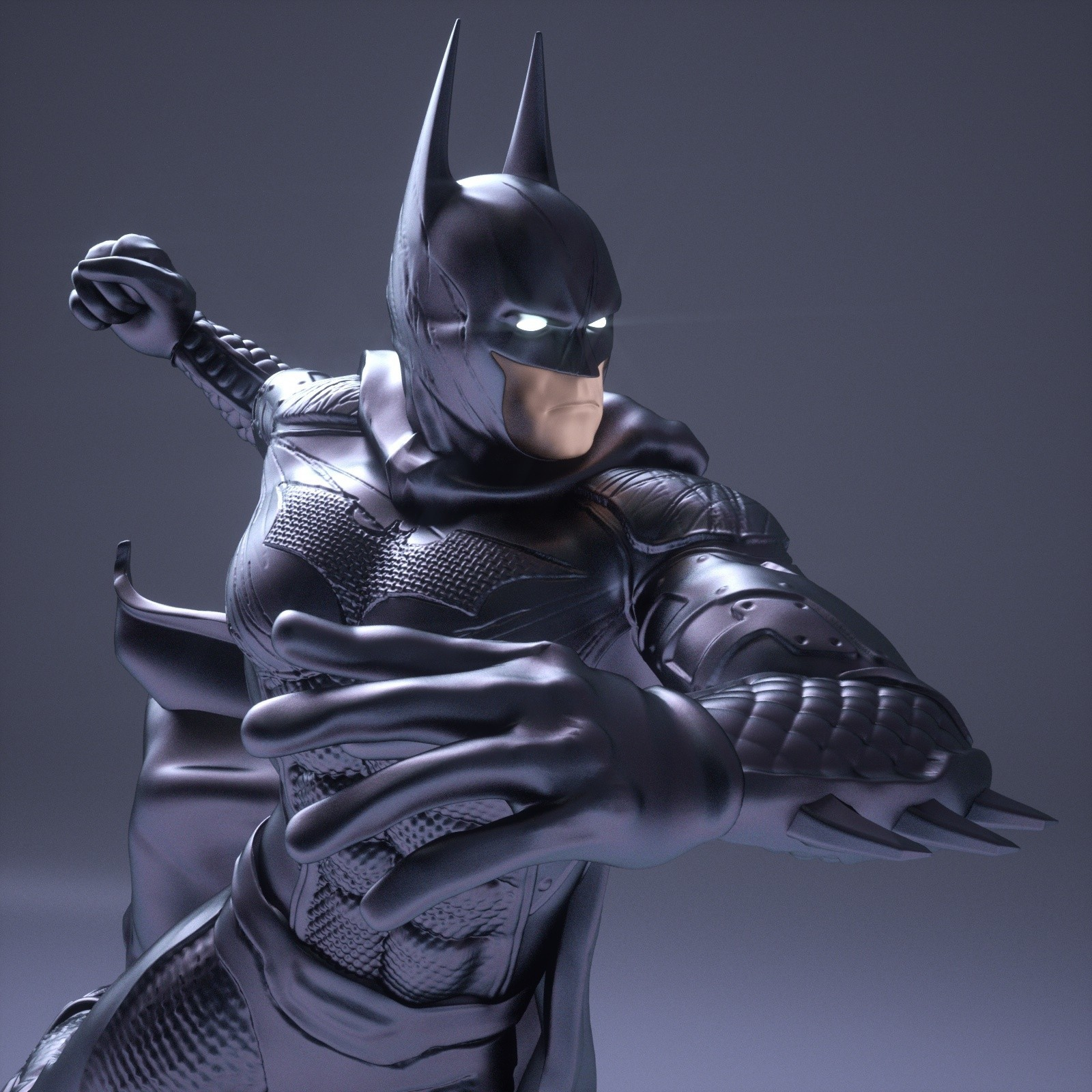 16.jpg Download OBJ file BATMAN Battle Pose • 3D print template, tolgaaxu