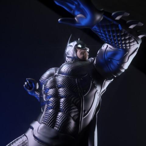 9.jpg Download OBJ file BATMAN Battle Pose • 3D print template, tolgaaxu