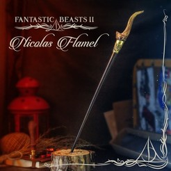 Download 3D model NICOLAS FLAMEL WAND - FANTASTIC BEASTS, tolgaaxu