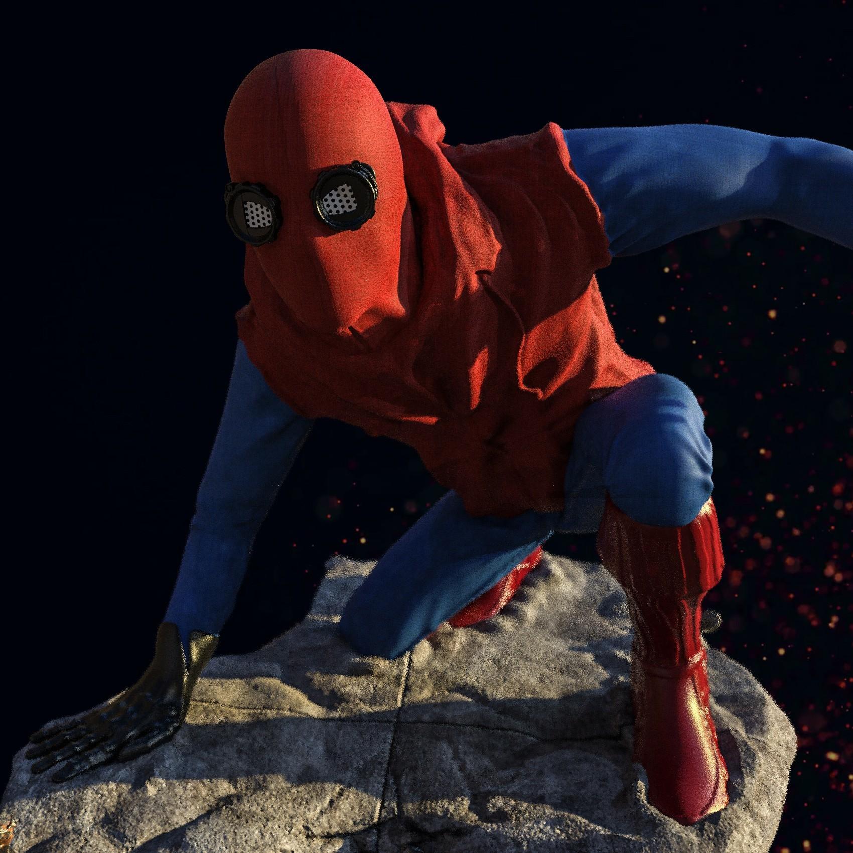 4.jpg Download STL file Spider-Man Homemade Suit • Design to 3D print, tolgaaxu