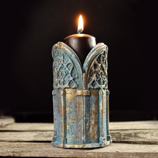 2.jpg Download 3DS file Gothic Candle Holder • Object to 3D print, tolgaaxu