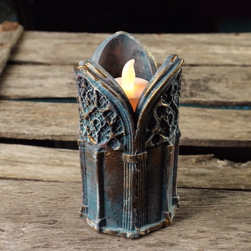 7.jpg Download 3DS file Gothic Candle Holder • Object to 3D print, tolgaaxu