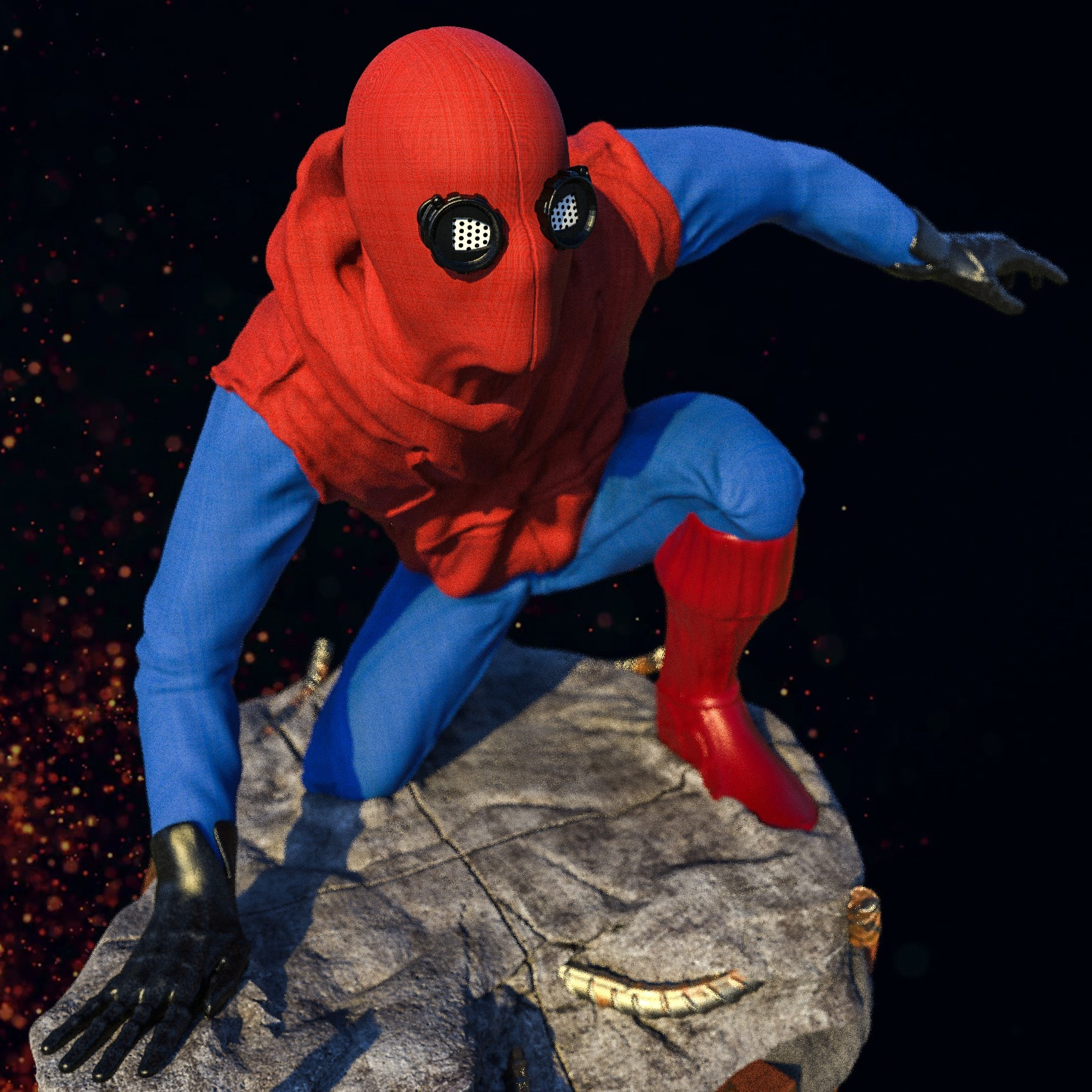 9.jpg Download STL file Spider-Man Homemade Suit • Design to 3D print, tolgaaxu