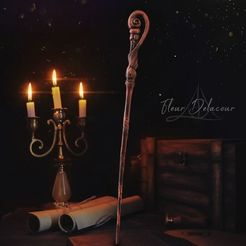 Fleur.jpg Download OBJ file Fleur Delacour Wand - Harry Potter • 3D print model, tolgaaxu
