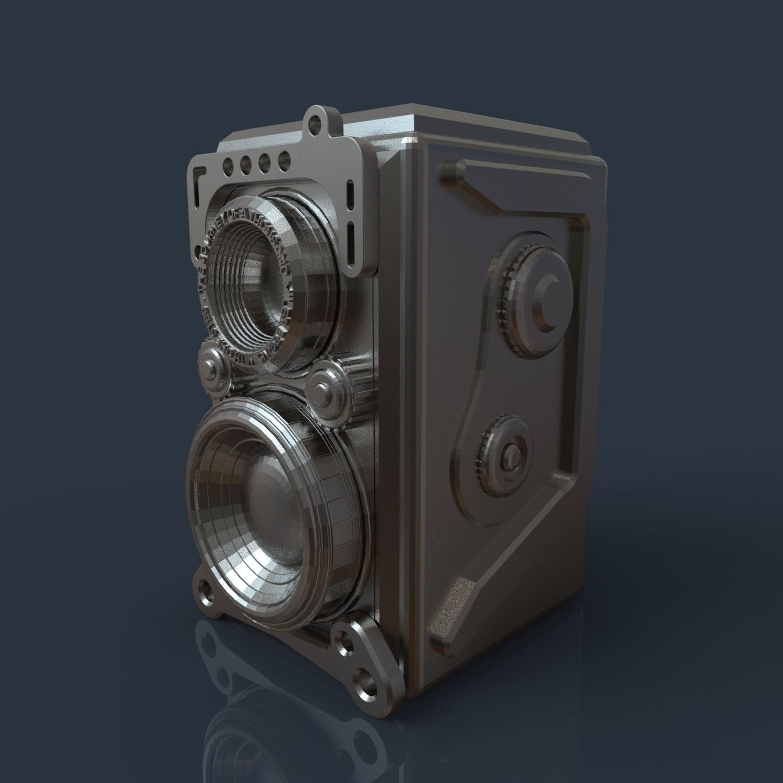 17.jpg Download 3DS file RETRO CAMERA FLOWERPOT • 3D printer template, tolgaaxu