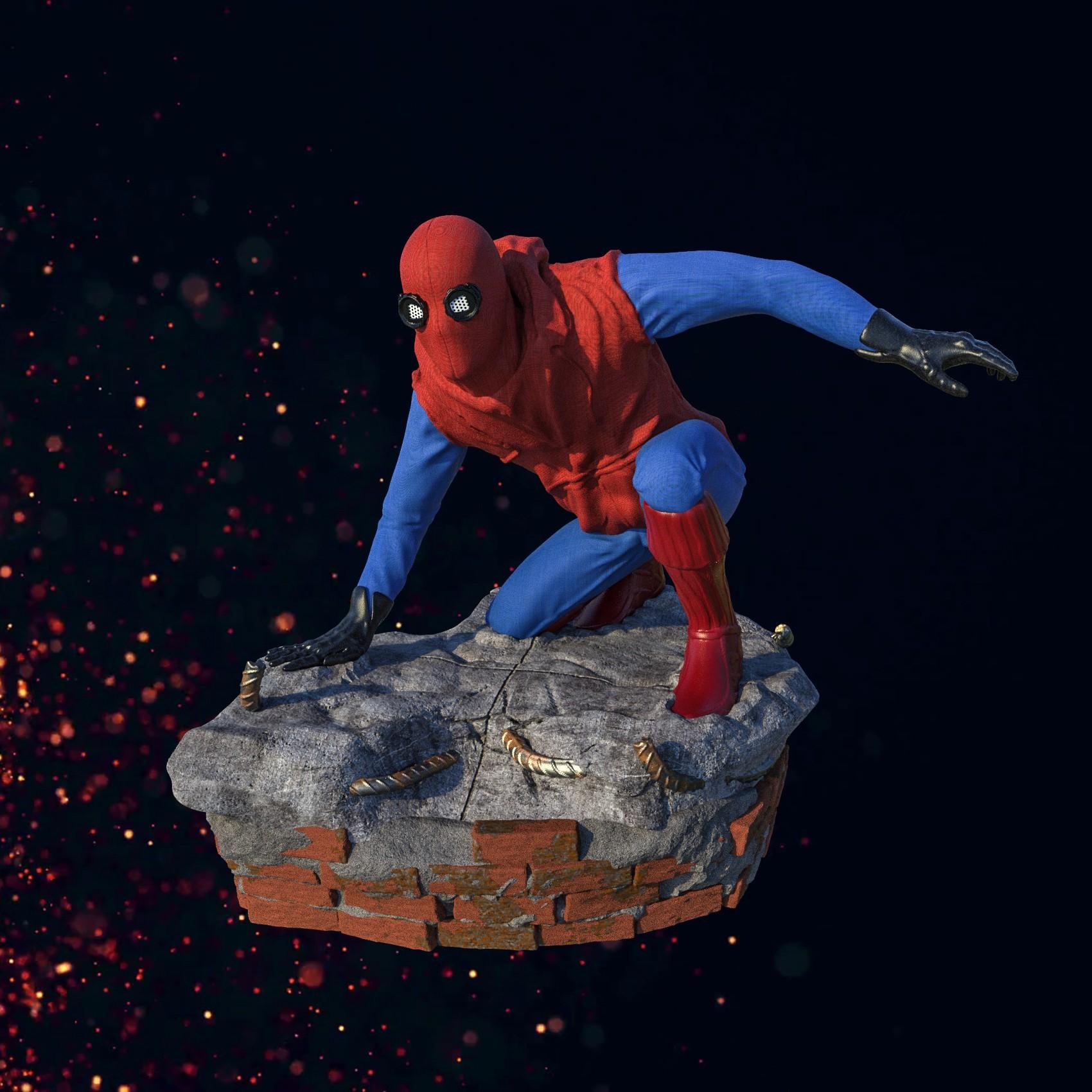 1.jpg Download STL file Spider-Man Homemade Suit • Design to 3D print, tolgaaxu