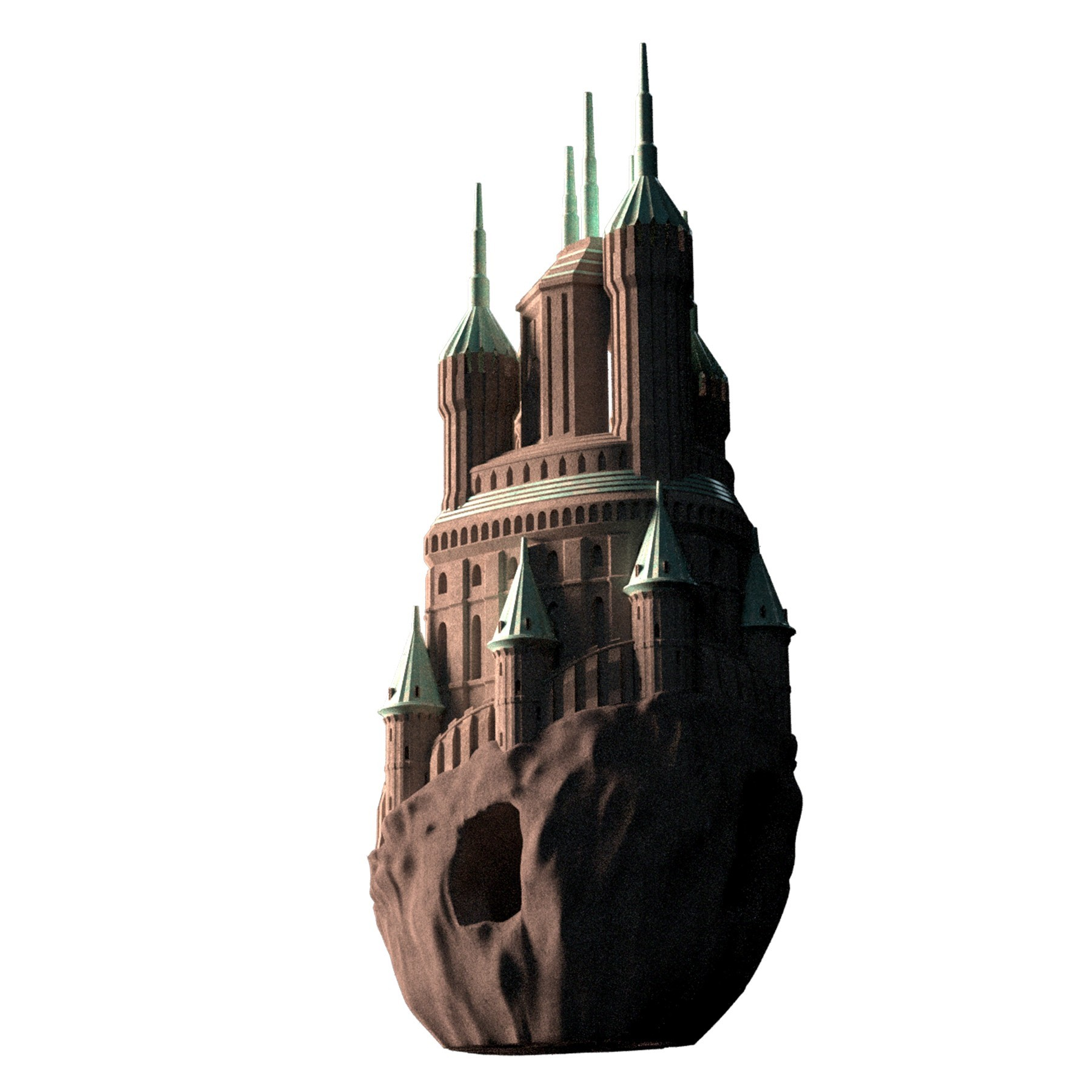 14.jpg Download OBJ file COASTAL FORTRESS • 3D printable model, tolgaaxu