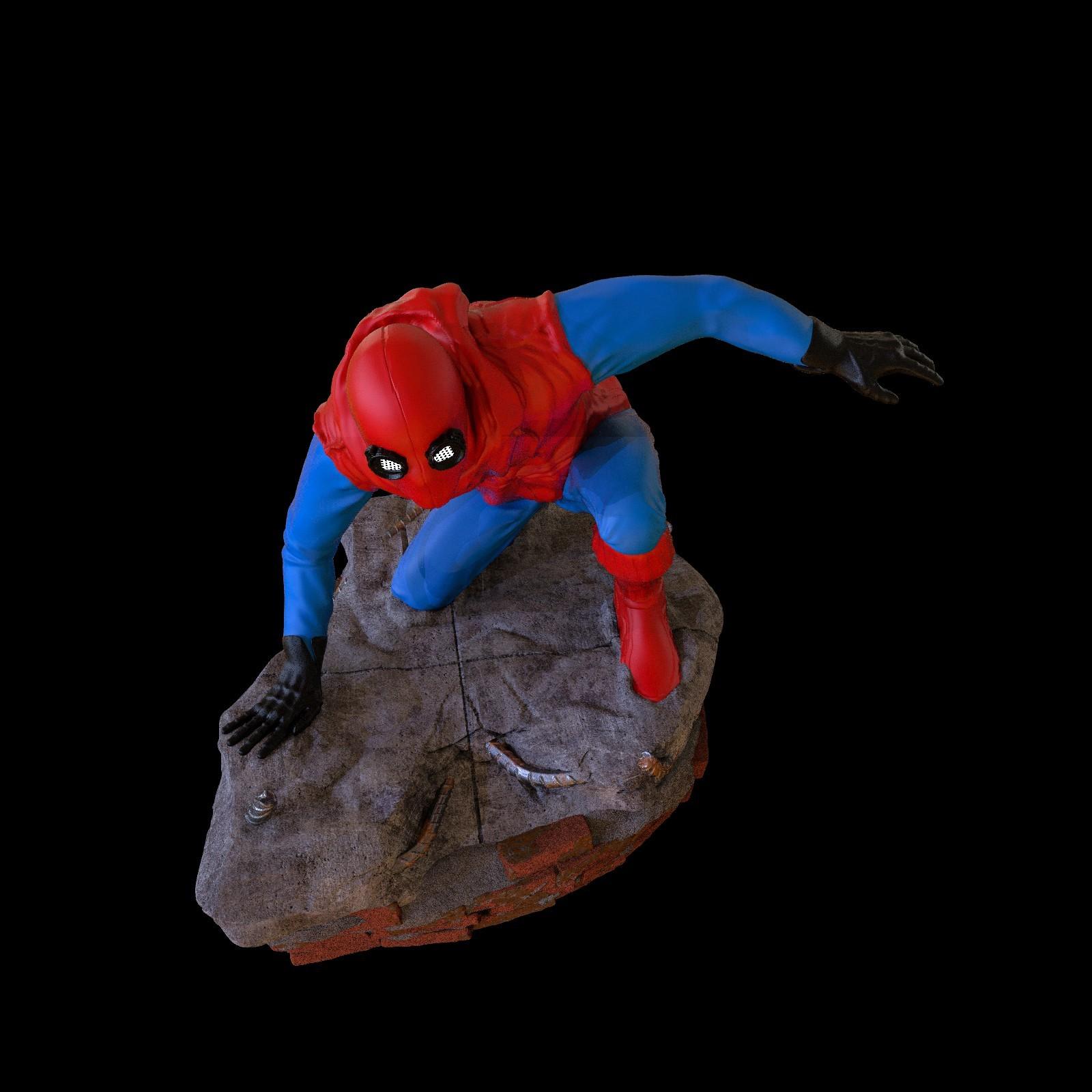 19.jpg Download STL file Spider-Man Homemade Suit • Design to 3D print, tolgaaxu