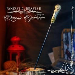 Download 3D printing designs QUEENIE GOLDSTEIN WAND - FANTASTIC BEASTS, tolgaaxu