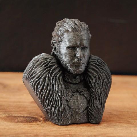 Jon.jpg Download OBJ file Jon Snow - Game of Thrones • 3D printable template, tolgaaxu