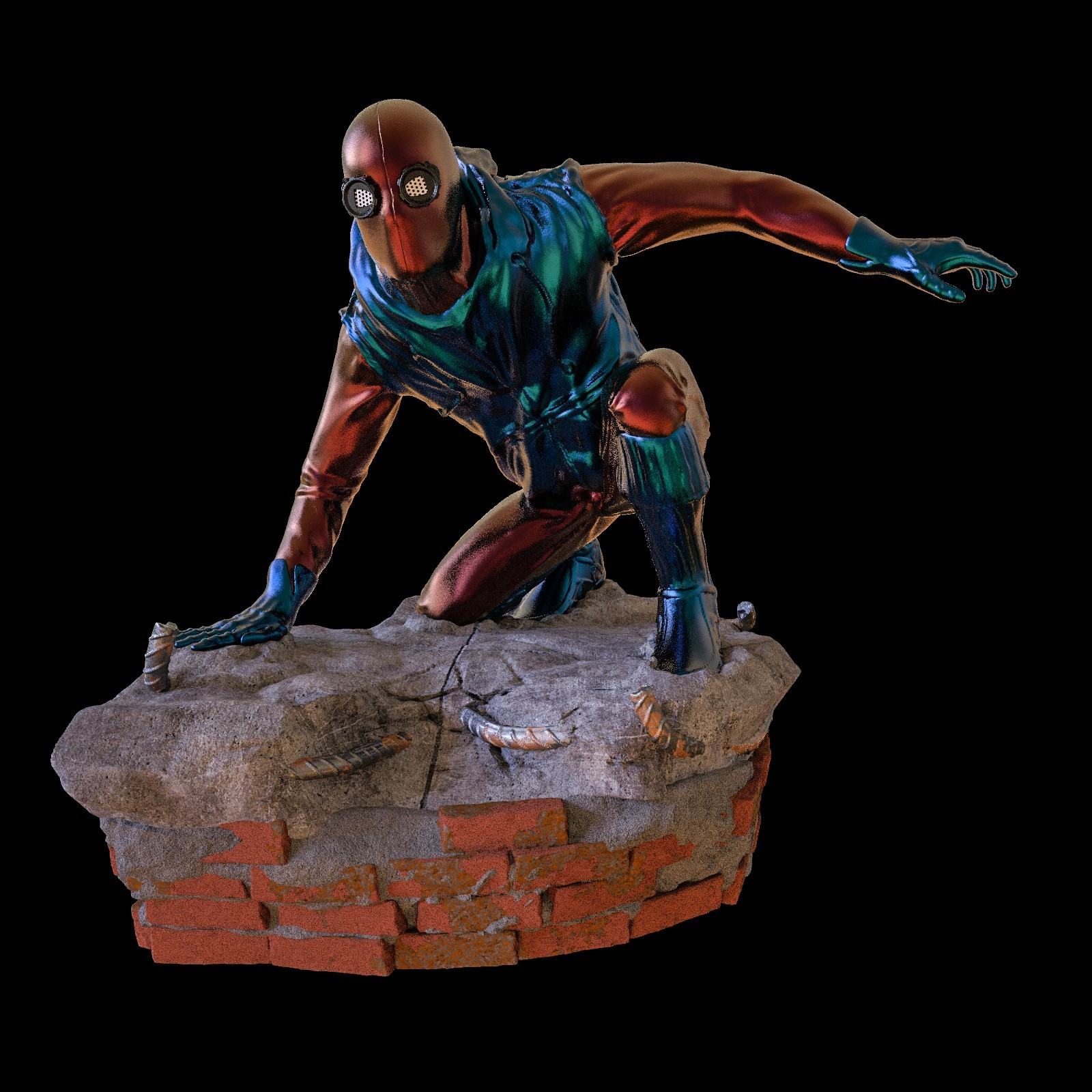 22.jpg Download STL file Spider-Man Homemade Suit • Design to 3D print, tolgaaxu