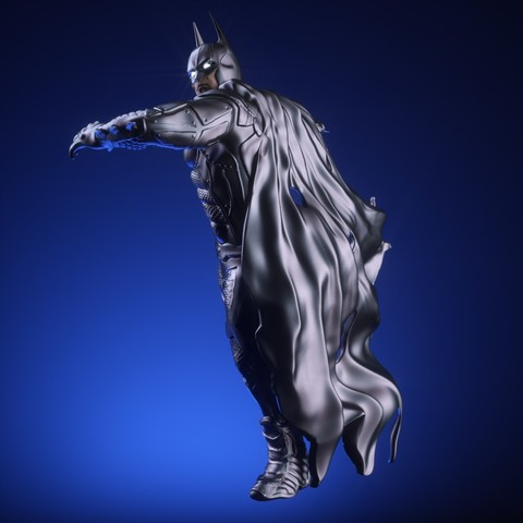 12.jpg Download OBJ file BATMAN Battle Pose • 3D print template, tolgaaxu
