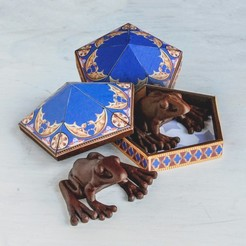 Download OBJ file Chocolate Frog & Box • 3D printable model, tolgaaxu