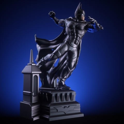 1.jpg Download OBJ file BATMAN Battle Pose • 3D print template, tolgaaxu