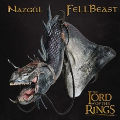 STL files FELLBEAST BUST - NAZGUL LORD OF THE RINGS, tolgaaxu