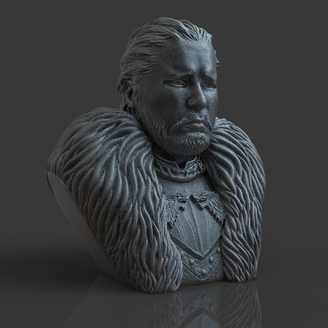4.jpg Download OBJ file Jon Snow - Game of Thrones • 3D printable template, tolgaaxu