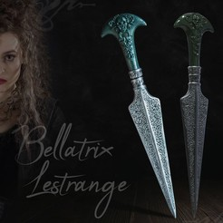 Download 3D printer designs Bellatrix Lestrange Dagger - Harry Potter, tolgaaxu