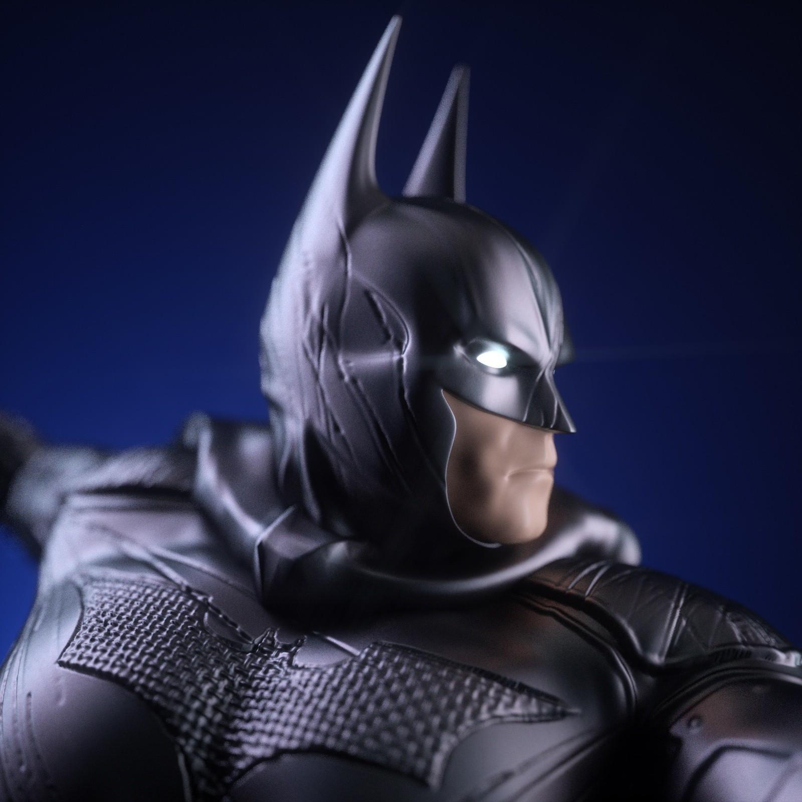 7.jpg Download OBJ file BATMAN Battle Pose • 3D print template, tolgaaxu