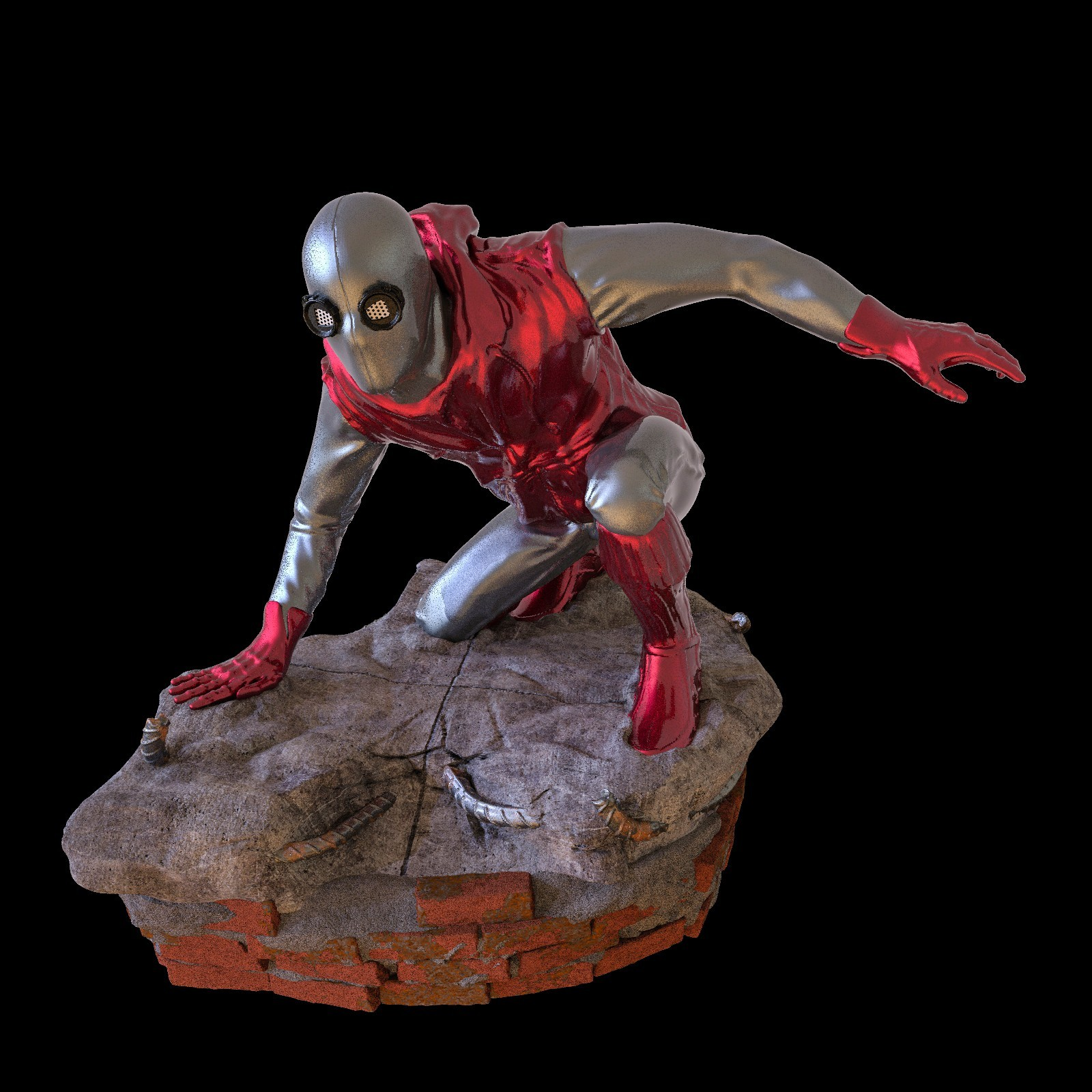 24.jpg Download STL file Spider-Man Homemade Suit • Design to 3D print, tolgaaxu