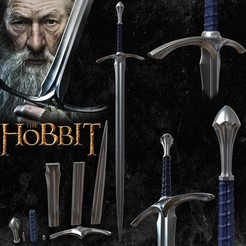 3D printer models GANDALF GLAMDRING SWORD - THE HOBBIT, tolgaaxu
