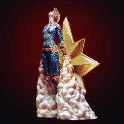 3D printer models Captain Marvel, tolgaaxu