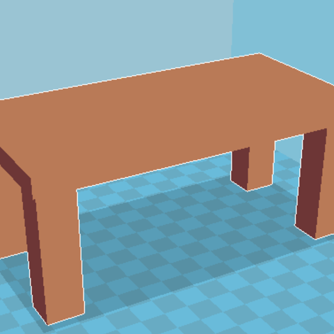 Modelos 3D para imprimir gratis Mesa marrón simple, Windesk_