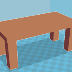 Free 3D printer model Simple brown table, Windesk_