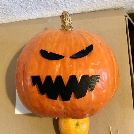 Download free 3D printer files Halloween Decoration: Pumpkin Mouth, weirdcan
