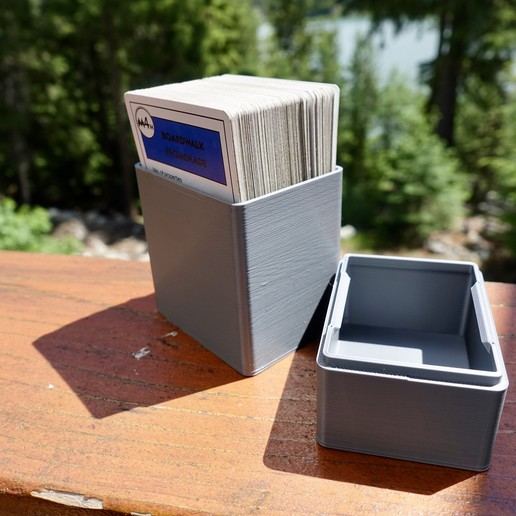Download free 3D printer designs Box for Playing Cards - Double Decker, the3dbunny