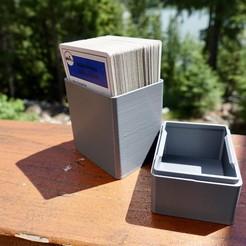 Imprimir en 3D gratis Caja para Cartas de Juego - Double Decker, the3dbunny