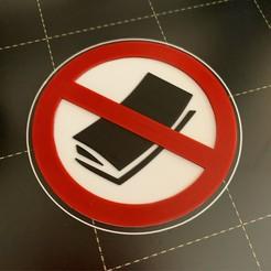 Télécharger STL gratuit Panneau de courrier indésirable/non-pourriel, the3dbunny