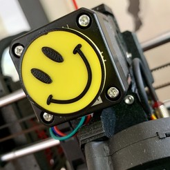 Download free 3D printer designs Smiley Face - Extruder Spinner, the3dbunny