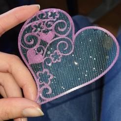 Impresiones 3D gratis Corazón floral, DasMia