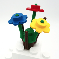 STL gratuit Big Flower style LEGO - version jouable, DasMia