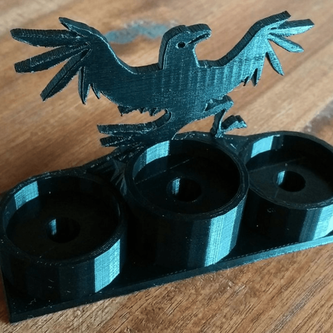 Capture d'écran 2018-04-16 à 14.30.23.png Download free STL file Atomizer Stand with Crow • 3D print model, DasMia